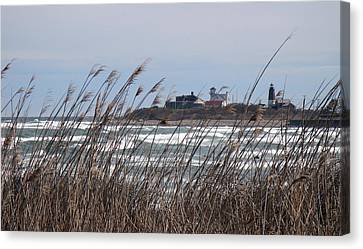 Canvas Print featuring the photograph Point Judith Lighthouse by Glenn DiPaola