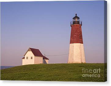Block Island Canvas Print - Point Judith Lighthouse by Juli Scalzi
