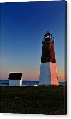Point Judith- Sidelit At Sunset Canvas Print by Thomas Schoeller