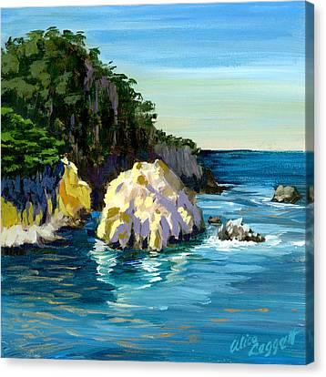 Point Lobos Rock Canvas Print by Alice Leggett