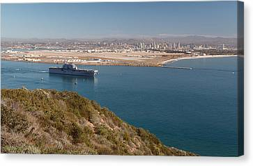 Canvas Print featuring the photograph Point Loma Looking Toward San Diego by Scott Rackers