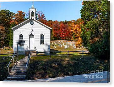 Point Mountain Community Church - Wv Canvas Print by Kathleen K Parker