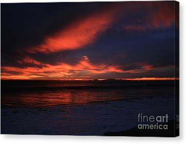 Canvas Print featuring the photograph Point Mugu 1-9-10 Just After Sunset by Ian Donley