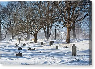 Point Of Graves Burial Grounds Canvas Print by Scott Thorp