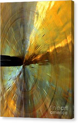 Point Of Impact In Copper And Green Canvas Print