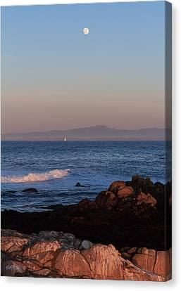 Canvas Print featuring the photograph Point Pinos At Dusk by Scott Rackers