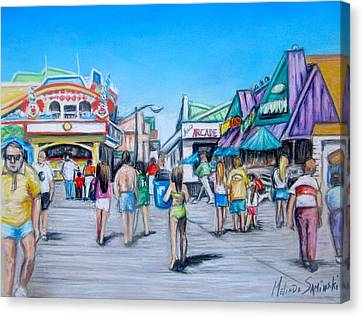 Point Pleasant Beach Boardwalk Canvas Print