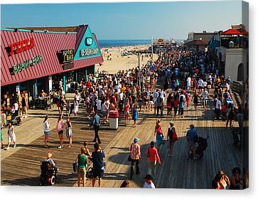 Point Pleasant Boardwalk Canvas Print by James Kirkikis