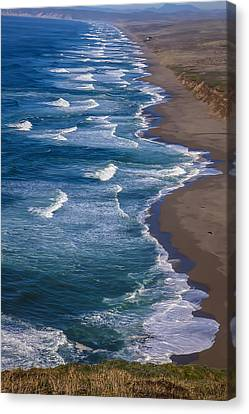 Point Reyes Long Beach Canvas Print by Garry Gay