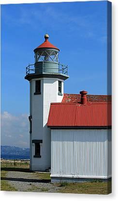 Canvas Print featuring the photograph Point Robinson Light House by E Faithe Lester