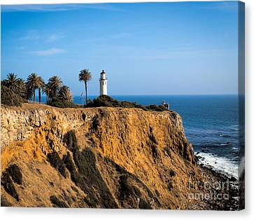 Canvas Print featuring the photograph Point Vicente Lighthouse by Eleanor Abramson
