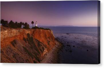 Point Vicente Lighthouse - Sunset Panorama - Rancho Palo Verdes Canvas Print