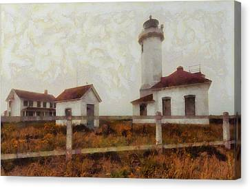Ports Canvas Print - Point Wilson Lighthouse by Mark Kiver