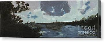 Pointe Of Chein Blue Skies Canvas Print
