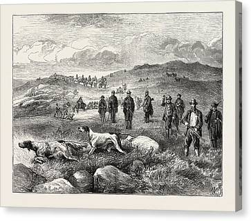 Pointer And Setter Grouse Trials At Rhiwlas Canvas Print