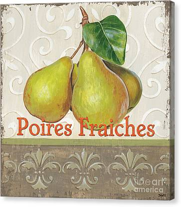 Poires Fraiches Canvas Print by Debbie DeWitt