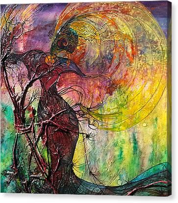 Sun Rays Canvas Print - Poison Ivy by Christy  Freeman