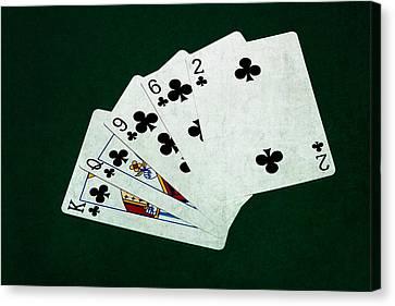 Poker Hands - Flush 3 Canvas Print by Alexander Senin