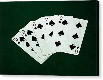 Poker Hands - Straight Flush 1 Canvas Print by Alexander Senin