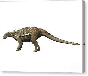 Polacanthus Foxii, Early Cretaceous Canvas Print by Nobumichi Tamura