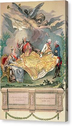 Women. Eighteenth Century Canvas Print - Poland  Xviii Century Allegory by Prisma Archivo