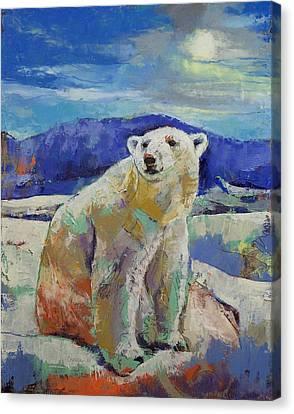 Polar Bear Sun Canvas Print