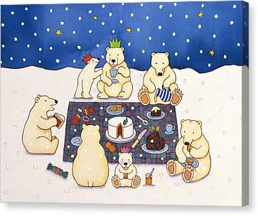 Polar Bear Picnic Canvas Print