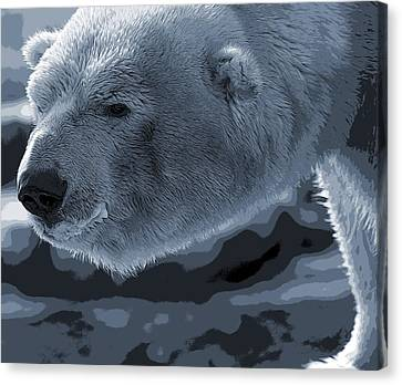 Polar Bear Poster Canvas Print by Dan Sproul