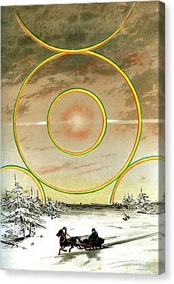Polar Halo Canvas Print by Collection Abecasis