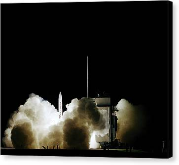 Polaris Nuclear Missile Launch Canvas Print by Us National Archives