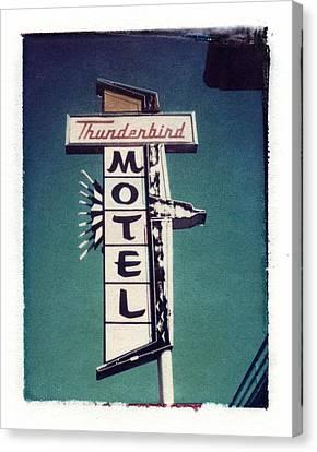 Polaroid Transfer Motel Canvas Print by Jane Linders