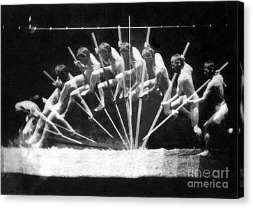 Pole Vault, 1885 Canvas Print by Science Source
