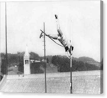 Pole Vaulter Working Out Canvas Print
