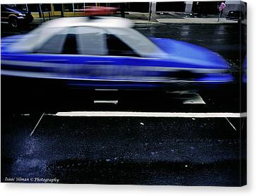 Police Chase Canvas Print by Isaac Silman