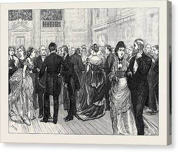 Police Orphanage Ball At The City Terminus Hotel Cannon Canvas Print by English School