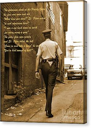 Halifax Policemen Canvas Print - Police Poem by John Malone
