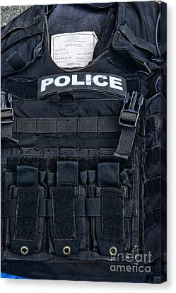 Police - The Tactical Vest Canvas Print by Paul Ward