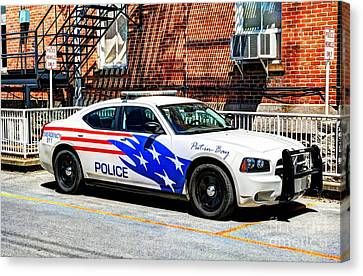 Police Officer Canvas Print - Police Vehicle Only by Mel Steinhauer