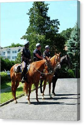 Policeman - Mounted Police Profile Canvas Print by Susan Savad