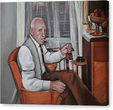 Canvas Print featuring the painting Polish Grandfather by Melinda Saminski
