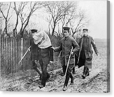Arrest Canvas Print - Polish Man Arrested By Germans by Underwood Archives
