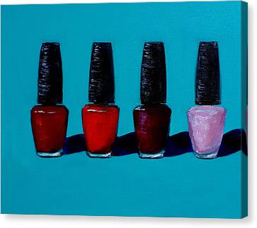 Polished Opi Nail Polish Canvas Print