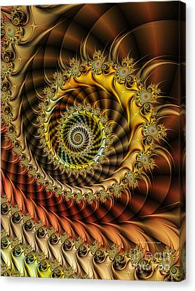 Polished Spiral Canvas Print