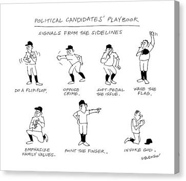 Political Candidates' Playbook Signals Canvas Print