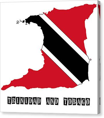 Political Map Of Trinidad And Tobago Canvas Print by Celestial Images