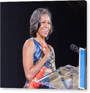 Michelle Obama Canvas Print - Michelle Obama by Ava Reaves