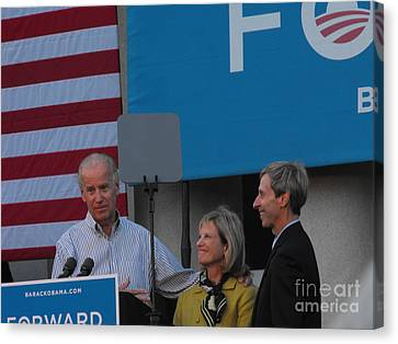 Joe Biden Canvas Print - Politicians by Lisa Gifford