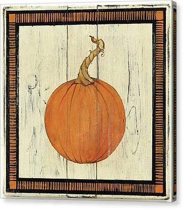 Polka Dot Pumpkin II Canvas Print by Wild Apple Portfolio
