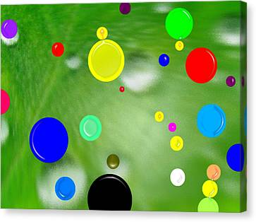 Polka Dots 1a Canvas Print by Bruce Iorio