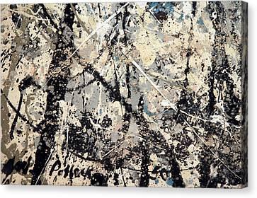 Pollock's Name On Lavendar Mist Canvas Print